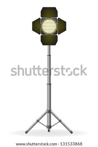 movie floodlight illustration isolated on white background