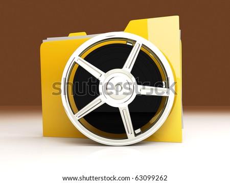 Movie Folder - stock photo