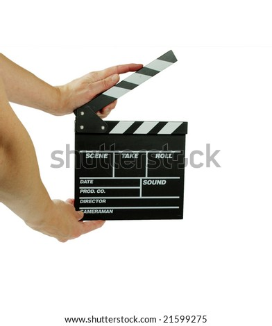 Movie marker board in hand