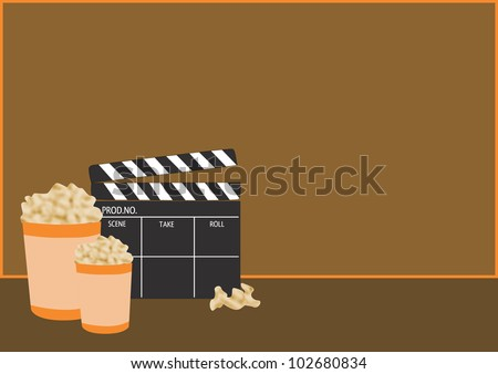Movie poker background with space (poster, web, leaflet, magazine)