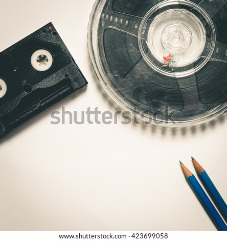 Movie Screen Play Writing Vintage color - stock photo