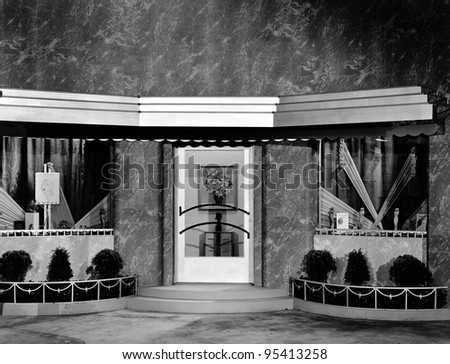 Movie set storefront - stock photo
