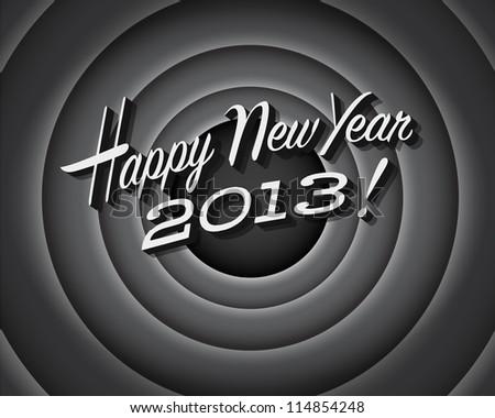 Movie still screen - Happy New Year 2013 - JPG Version - stock photo