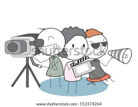 movie team  - stock photo