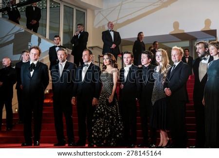 Movie Team attends the 'Il Racconto Dei Racconti' Premiere during the 68th annual Cannes Film Festival on May 14, 2015 in Cannes, France. - stock photo