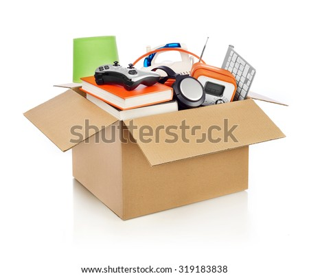 Moving box - stock photo