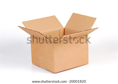moving box isolated on white