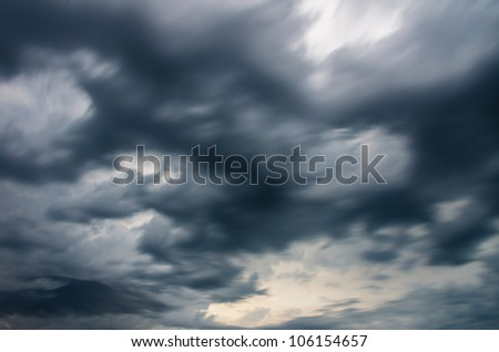 moving dark storm clouds before rain