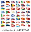 Moving flags set - Europe. 48 flags. . JPEG version. - stock photo