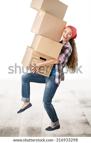 Moving House. - stock photo