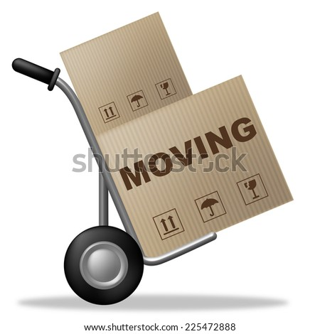 Moving House Meaning Buy New Home And Change Of Address - stock photo