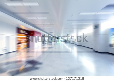 moving in airport - stock photo