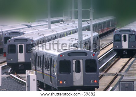 Moving Train cars with blur background
