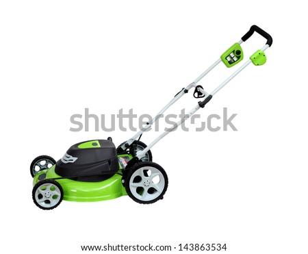 mower isolated on white background - stock photo