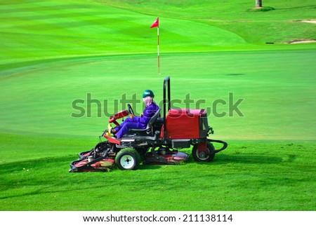 Mowers golf - stock photo
