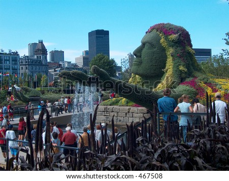 Mozaicultures Internationales is the Festival that takes place in Montreal every two years. This one is 2003. - stock photo