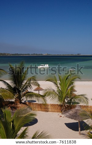 mozambique beach 2 - stock photo