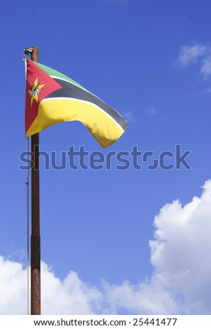 Mozambique Flag in the Wind