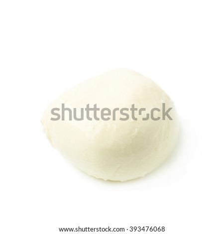 Mozzarella cheese ball isolated - stock photo