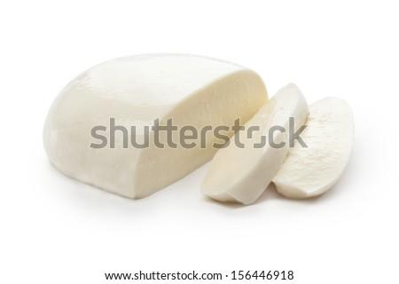 Mozzarella on white background  - stock photo