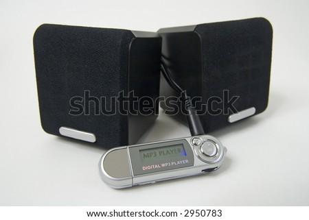 mp3 music player generic - stock photo