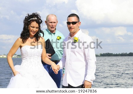 mr and mrs - stock photo
