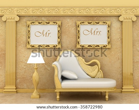 Mr Mrs Love Prints Wedding Art Stock Illustration 358722980 ...