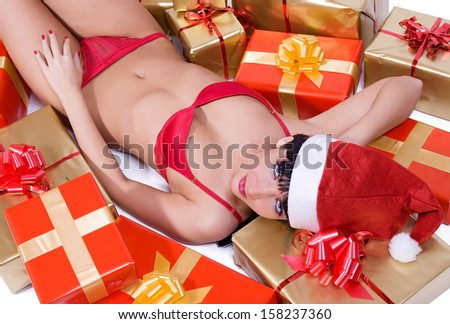 Mrs. Claus with gift box