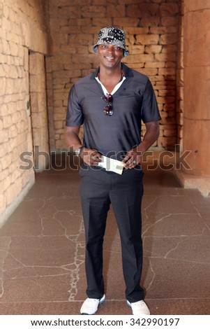 MSENGANA, THOMAS  - NOVEMBER 15: Radio Celebrity Playing at Gary Player Charity Invitational Golf Tournament posing for picture on November 15, 2015, Sun City, South Africa.