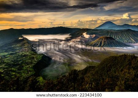 mt. Bromo, East Java, Indonesia - stock photo