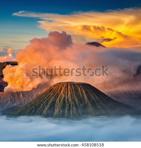 Mt.Bromo in Tengger Semeru National Park, East Java, Indonesia - stock photo