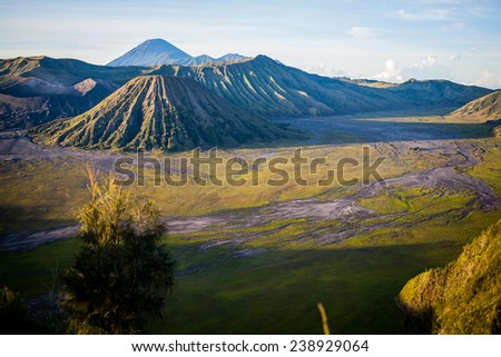 Mt.Bromo Volcano, Indonesia - stock photo