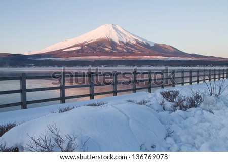 Mt.Fuji in the early morning time - stock photo