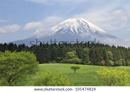 Mt Fuji, Japan - stock photo