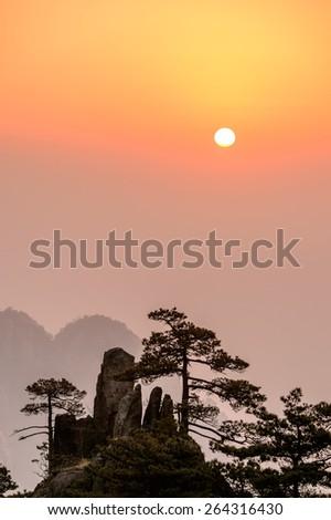 Mt. Huangshan - stock photo