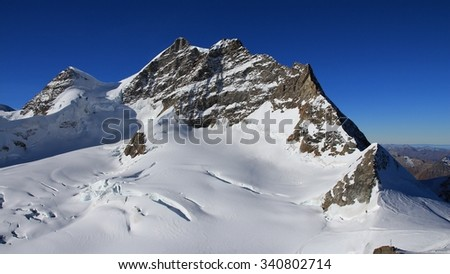 Mt Jungfrau, view from the Jungfraujoch
