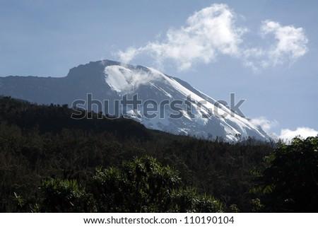 Mt Kilimanjaro climbing expedition in Tanzania, Africa - stock photo
