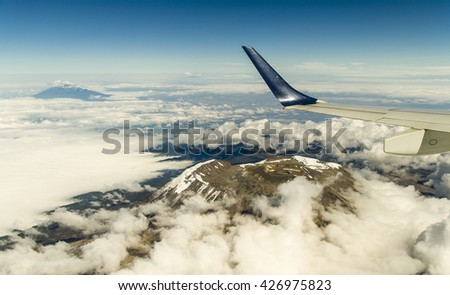 Mt Kilimanjaros Uhuru Peak On Kibos Stock Photo - Distance above sea level