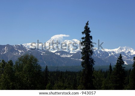 Mt McKinley - stock photo
