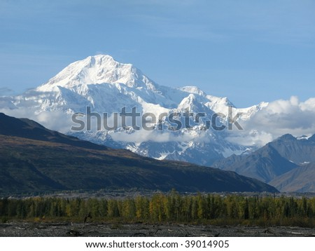 Mt McKinley Alaska in the fall