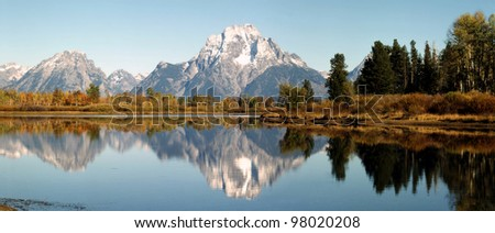 Mt.Moran and Oxbow Bend, Wyoming