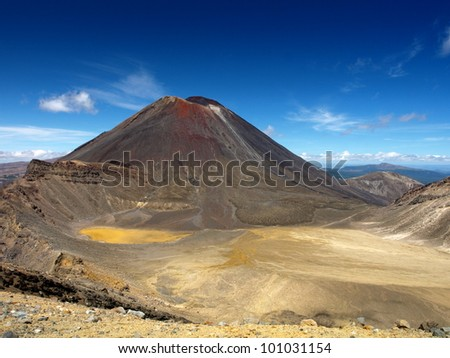 Mt Ngauruhoe, Tongariro crossing - stock photo