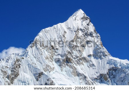 Mt. Nuptse in the Everest Region of the Himalayas, Nepal.