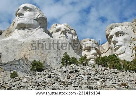 Mt Rushmore 4 - stock photo