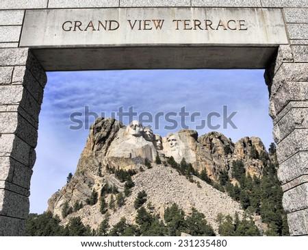Mt Rushmore in the Black Hills of South Dakota / Mt Rushmore - stock photo