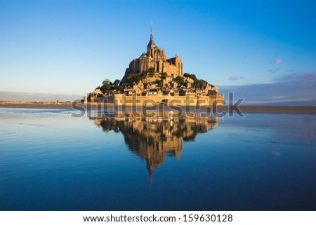 Mt Saint Michel  in France  - stock photo