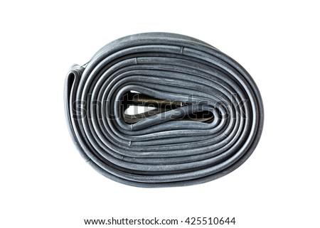 MTB tube isolated on white background. - stock photo