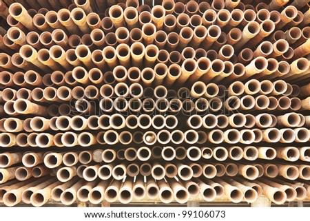 Much of drill pipes as excellent for background