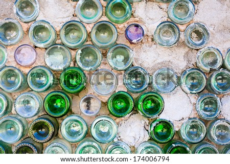 Mud and Glass Bottle Wall