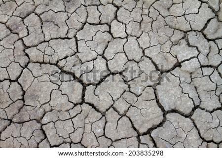 Mud cracked background (Dry cracked ) - stock photo